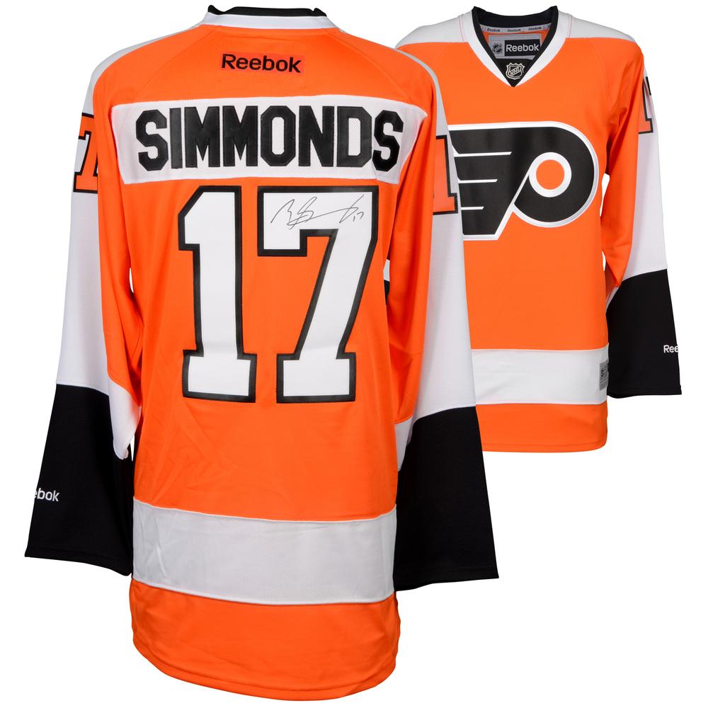 Wayne Simmonds Philadelphia Flyers Autographed Orange Reebok Premier Jersey