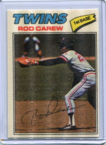 Photo of 1977 Topps Cloth Stickers #10 Rod Carew SP