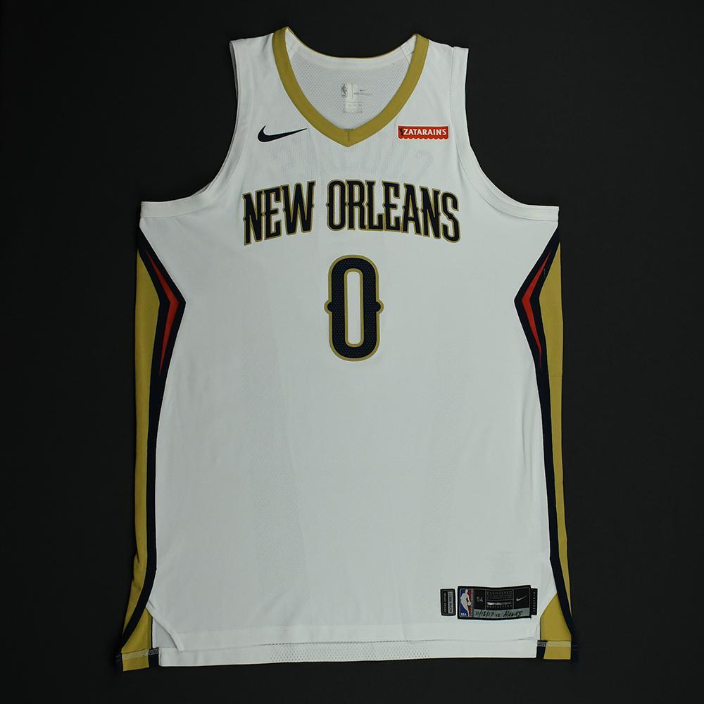 DeMarcus Cousins - New Orleans Pelicans - Game-Worn Jersey - Double-Double - 2017-18 NBA Season