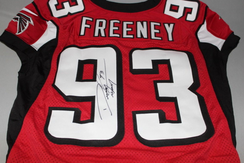 NFL Auction | STS - Falcons Dwight Freeney signed and game issued ...