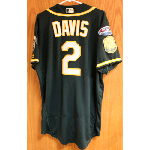 Photo of Game-Used Jersey: Khris Davis AL Wild Card Game (2-Run HR) 10/3/18