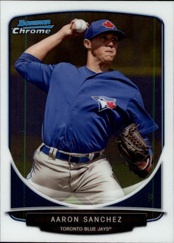 Photo of 2013 Bowman Chrome Draft Top Prospects #TP44 Aaron Sanchez Pre-Rookie Card