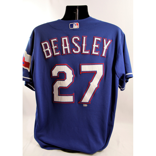 Photo of Game-Used Blue Jersey - Tony Beasley - 6/22/18