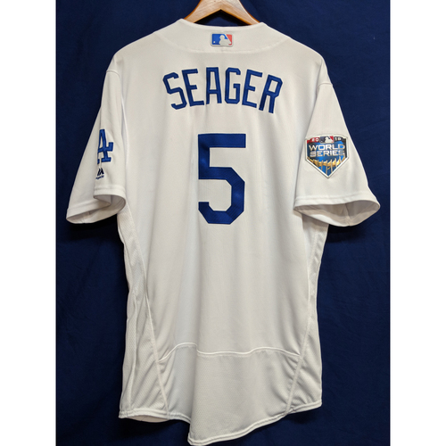 Photo of Corey Seager Team-Issued 2018 World Series Jersey
