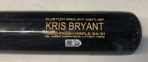 Photo of Kris Bryant Game-Used Cracked Bat -- Kyle McGowin to Kris Bryant, RBI Single, Top 6 --  Cubs at Nationals -- 5/19/2019