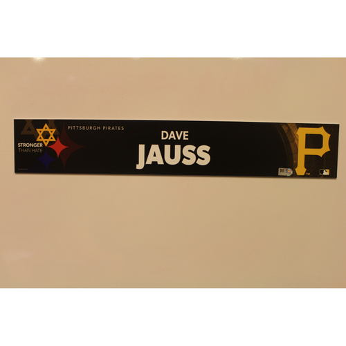 2019 Game Used Locker Nameplate - Dave Jauss