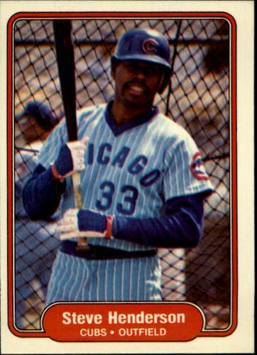 Photo of 1982 Fleer #597 Steve Henderson