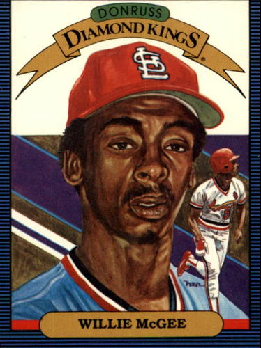 Photo of 1986 Donruss #3 Willie McGee DK