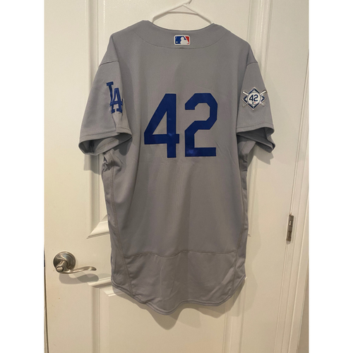 Photo of Joc Pederson Authentic Game-Used Jersey from 8/28/20 Game @ TEX - Size  46TC