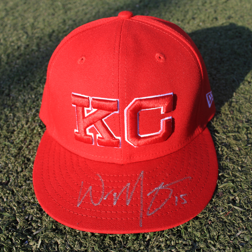 Photo of Autographed Monarchs Cap: Whit Merrifield (STL @ KC 9/22/20)
