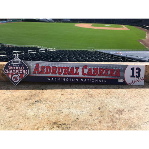 Photo of Asdrubal Cabrera Game-Used 2020 Locker Tag