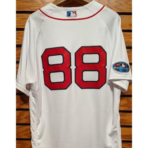 2018 Postseason Martinez #88 Team Issued Home White Jersey