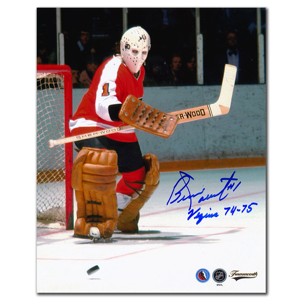 Bernie Parent Philadelphia Flyers VEZINA Autographed 8x10