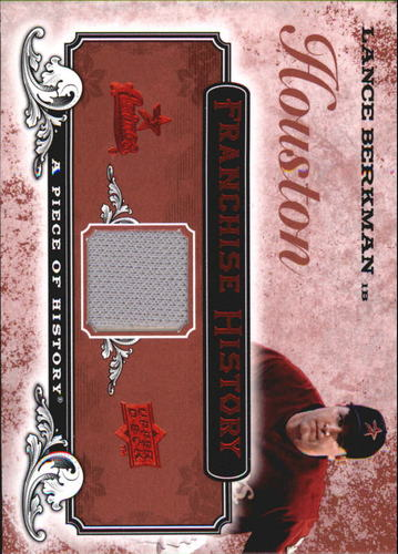 Photo of 2008 UD A Piece of History Franchise History Jersey Red #FH25 Lance Berkman