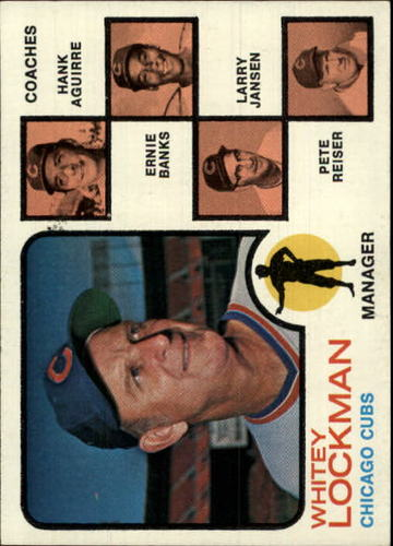 Photo of 1973 Topps #81A Whitey Lockman MG/Hank Aguirre CO/Ernie Banks CO/Larry Jansen CO/Pete Reiser CO/Soli