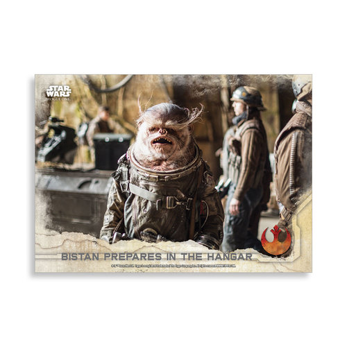 Bistan prepares in the hangar 2016 Star Wars Rogue One Series One Base Poster - # to 99