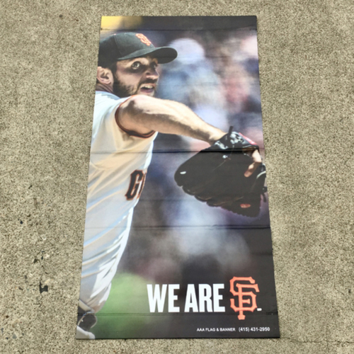 Photo of San Francisco Giants - MLB Authenticated 2017 Madison Bumgarner Street Banner