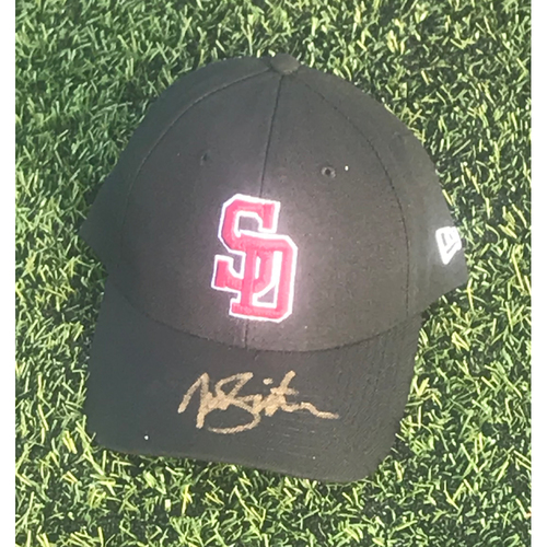 Photo of Troy Snitker Autographed and Game-Used Stoneman Douglas Eagles Cap