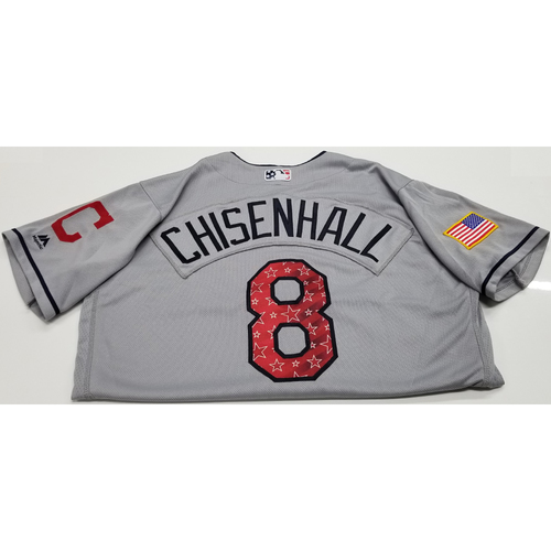Photo of Lonnie Chisenhall Game-Used 2018 Stars & Stripes Jersey