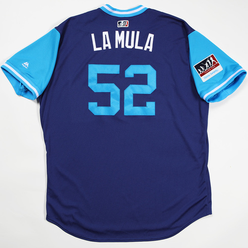 "Photo of Pedro ""La Mula"" Baez Los Angeles Dodgers Game-Used 2018 Players' Weekend Jersey"