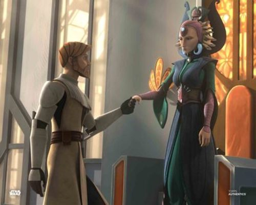 Satine Kryze and Obi Wan Kenobi