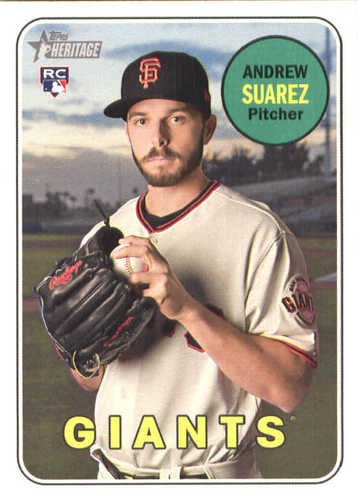 Photo of 2018 Topps Heritage #629 Andrew Suarez RC