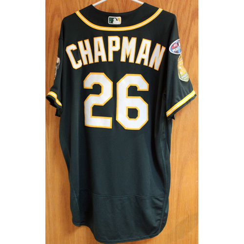 Photo of Game-Used Jersey: Matt Chapman AL Wild Card Game 10/3/18