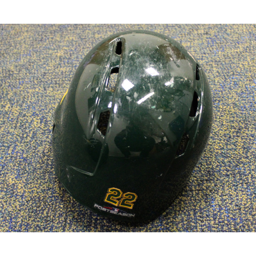 Game-Used Ramon Laureano 2018 Helmet (8/4/18 vs. Tigers) w/ Postseason Sticker
