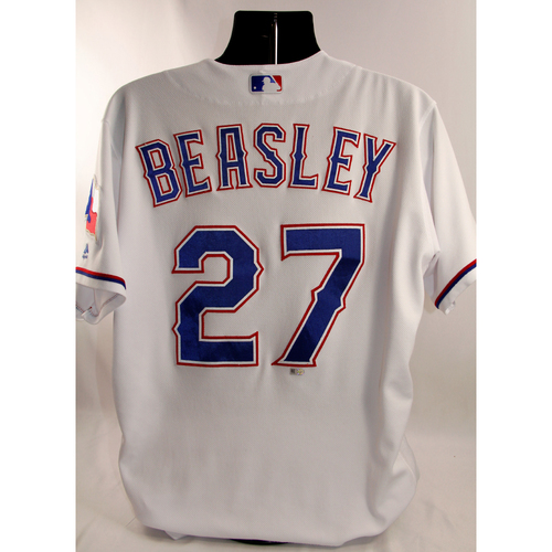 Photo of Game-Used White Jersey - Tony Beasley - 3/29/18