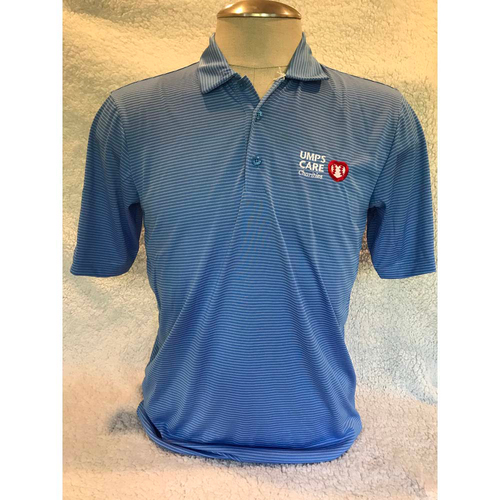 Photo of UMPS CARE AUCTION: UMPS CARE Antigua Quest Polo Shirt, Columbia Blue/White, Size M