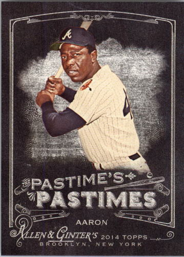 Photo of 2014 Topps Allen and Ginter The Pastime's Pastime #PPHA Hank Aaron