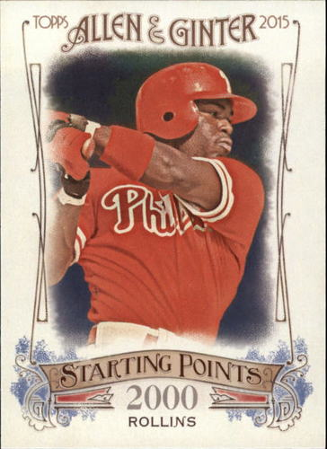 Photo of 2015 Topps Allen and Ginter Starting Points #SP41 Jimmy Rollins