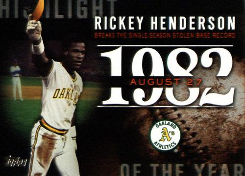 Photo of 2015 Topps Highlight of the Year #H49 Rickey Henderson