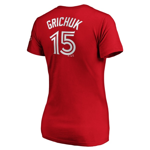 Toronto Blue Jays Women's Randal Grichuk Red Player T-Shirt by Majestic