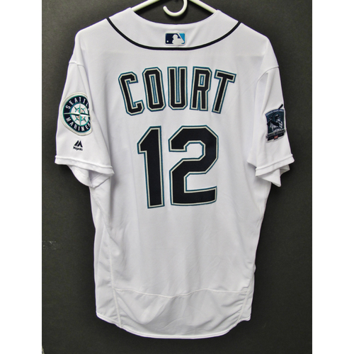 Photo of Seattle Mariners 2019 Ryan Court Game-Used Jersey - Edgar Martinez Hall of Fame Celebration Weekend - August 9-11