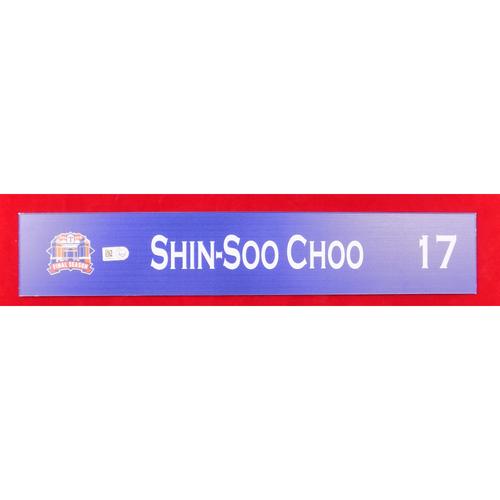 Photo of Final Season Game-Used Locker Tag - Shin-Soo Choo - 9/13/19 vs OAK