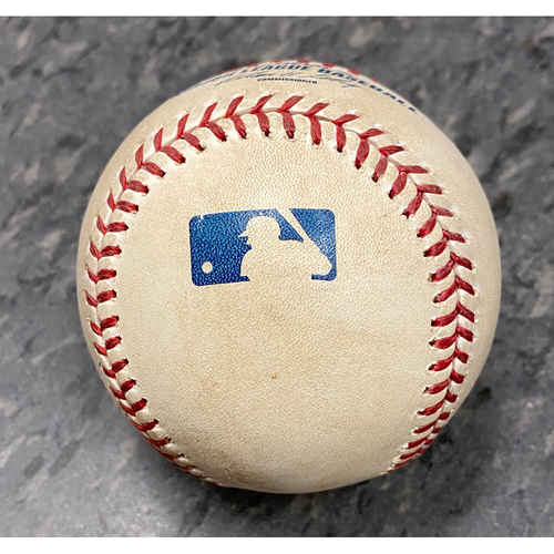 Photo of 2010 Game Used Baseball used on 10/3 vs. San Diego Padres - Giants Win the National League West