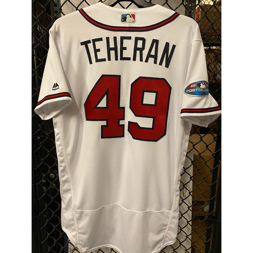 Julio Teheran Game Used Jersey from 2018 NLDS - Worn 10/7/2018
