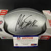 NFL - Patriots Matthew Slater Signed Silver 100 Seasons Commemorative Football