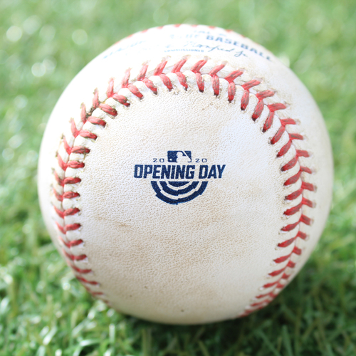 Photo of Game-Used Opening Day Baseball: Batter - Perez, Pitcher - Keuchel, Ball, Bottom 5 (7/31/20 CWS @ KC)