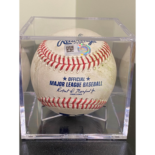 Photo of Game Used Baseball: Pitcher: Marco Gonzales, Batter: Eric Hosmer - 2-Run Home Run - Bot 3 - 8-25-2020 vs. SEA