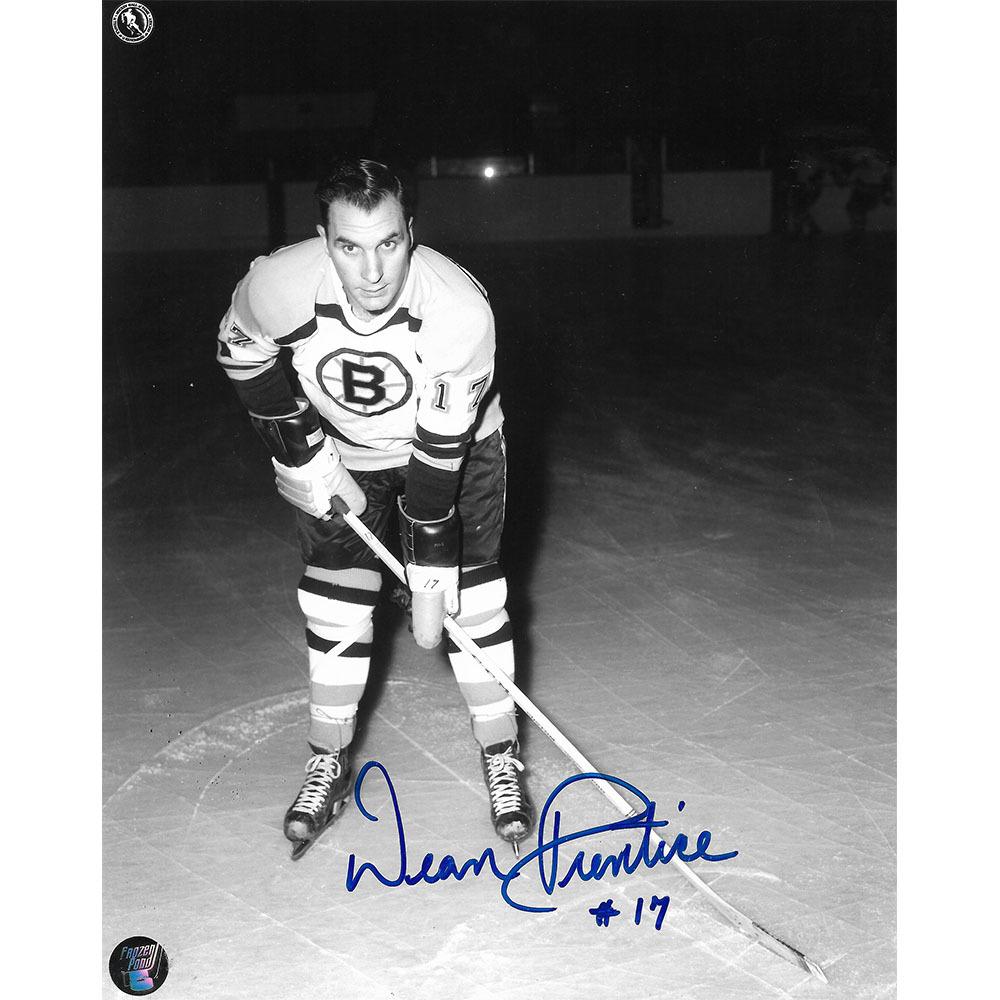 Dean Prentice Autographed Boston Bruins 8X10 Photo