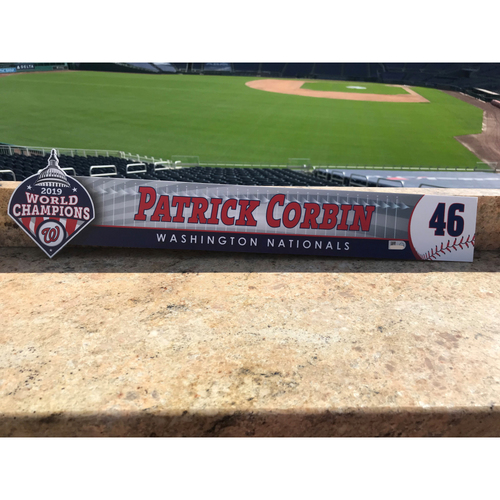 Photo of Patrick Corbin Game-Used 2020 Locker Tag