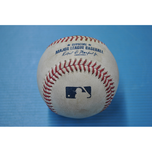 Photo of Game-Used Baseball - CIN at PIT - 9/17/2020 - Pitcher - Steven Brault, Batter - Kolten Wong, Top 3, Single