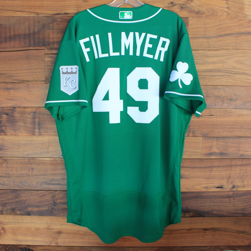 Photo of Team-Issued 2020 St. Patrick's Day Jersey: Heath Fillmyer #49 - Size 46