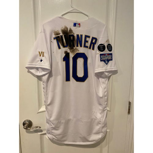 Photo of PRESALE - Justin Turner Special-Edition Home Opening Weekend Gold-Outlined Jersey
