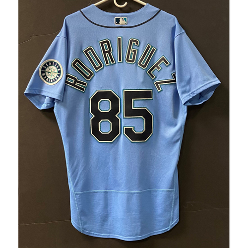 Photo of Team Issued 2020 Jersey - Julio Rodriguez #85 Light Blue Jersey