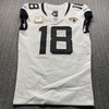 STS - Jaguars Chris Conley Game Used Jersey (11/8/20) Size 40 with Captains Patch