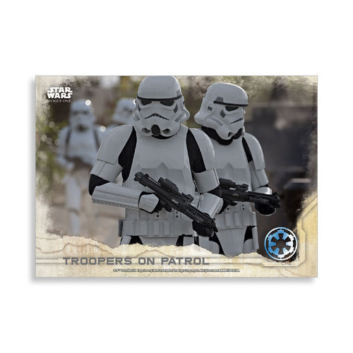 Troopers on Patrol 2016 Star Wars Rogue One Series One Base Poster - # to 99