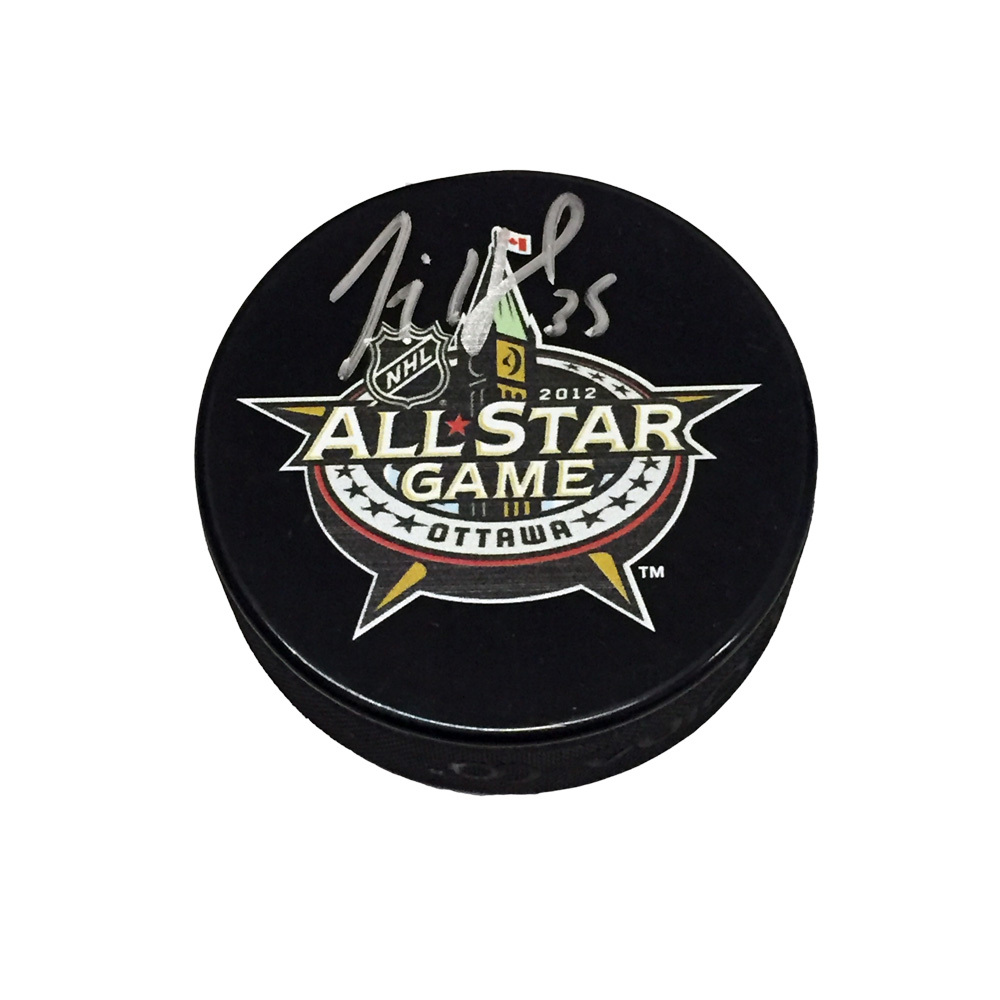 JIMMY HOWARD Signed 2012 All-Star Game Puck - Detroit Red Wings